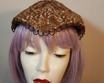 FREE  SHIPPING   1950  Sequin  Mini  Hat