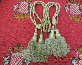 Vintage French curtain tie backs