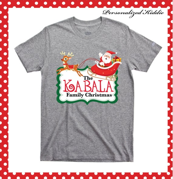 Personalized christmas family t shirt personalized family for Custom t shirts for family reunion