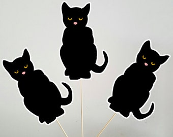 black cat centerpieces halloween centerpieces halloween decorations black cat decorations - Halloween Cat Decorations