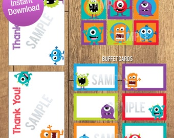 Silly Little Monster Party Pack Decoration Kit