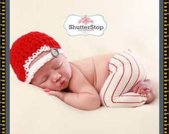 Newborn baseball hat only, baby baseball hat, baseball photo prop, baseball beanie, baseball cap,
