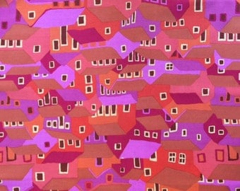 SHANTY TOWN Red by Brandon Mably for Kaffe Fassett Collective Sold in 1/2  yard increments