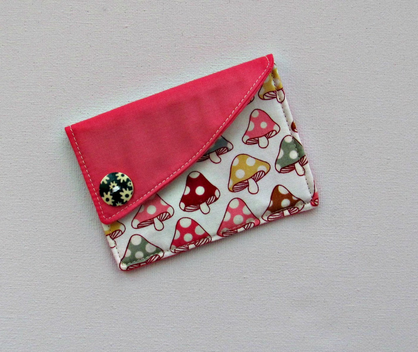 Credit Coin: Credit Card Holder Fabric Coin Purse By ClaireWheatDesigns
