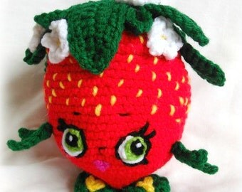 Shopkins Inspired Strawberry Kiss; CROCHET PATTERN