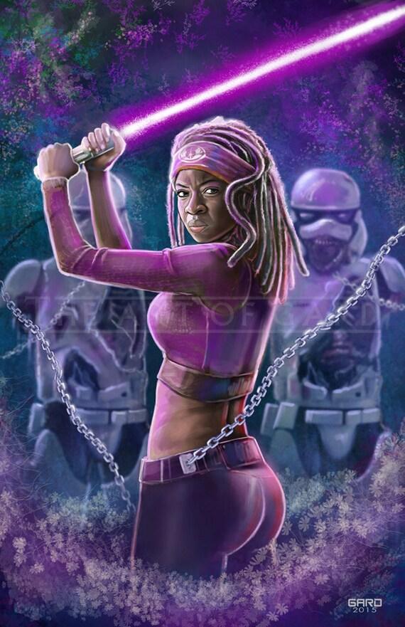 Michonne, Jedi Knight 11X17 Artist's Print