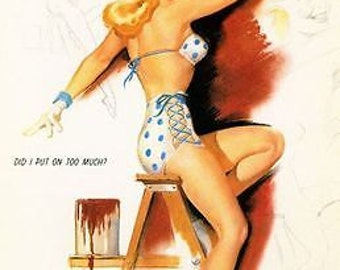 1950's Pin Up Poster 47 A3/A2/A1 Print