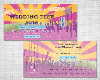 Wedding Festival Ticket PDF printable Wedfest
