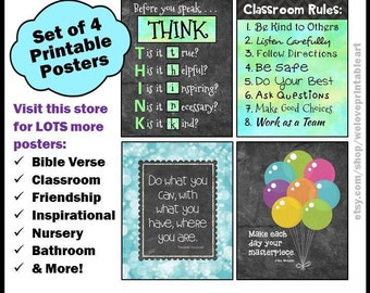 Classroom Rules, Back to School, Teacher Classroom Decor, Classroom Organization, Teacher Gift, Classroom Decoration, Printable Sign Poster