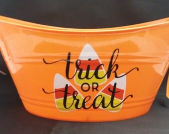 Halloween Candy CornPersonalized Bowl Bucket *QuickShip*