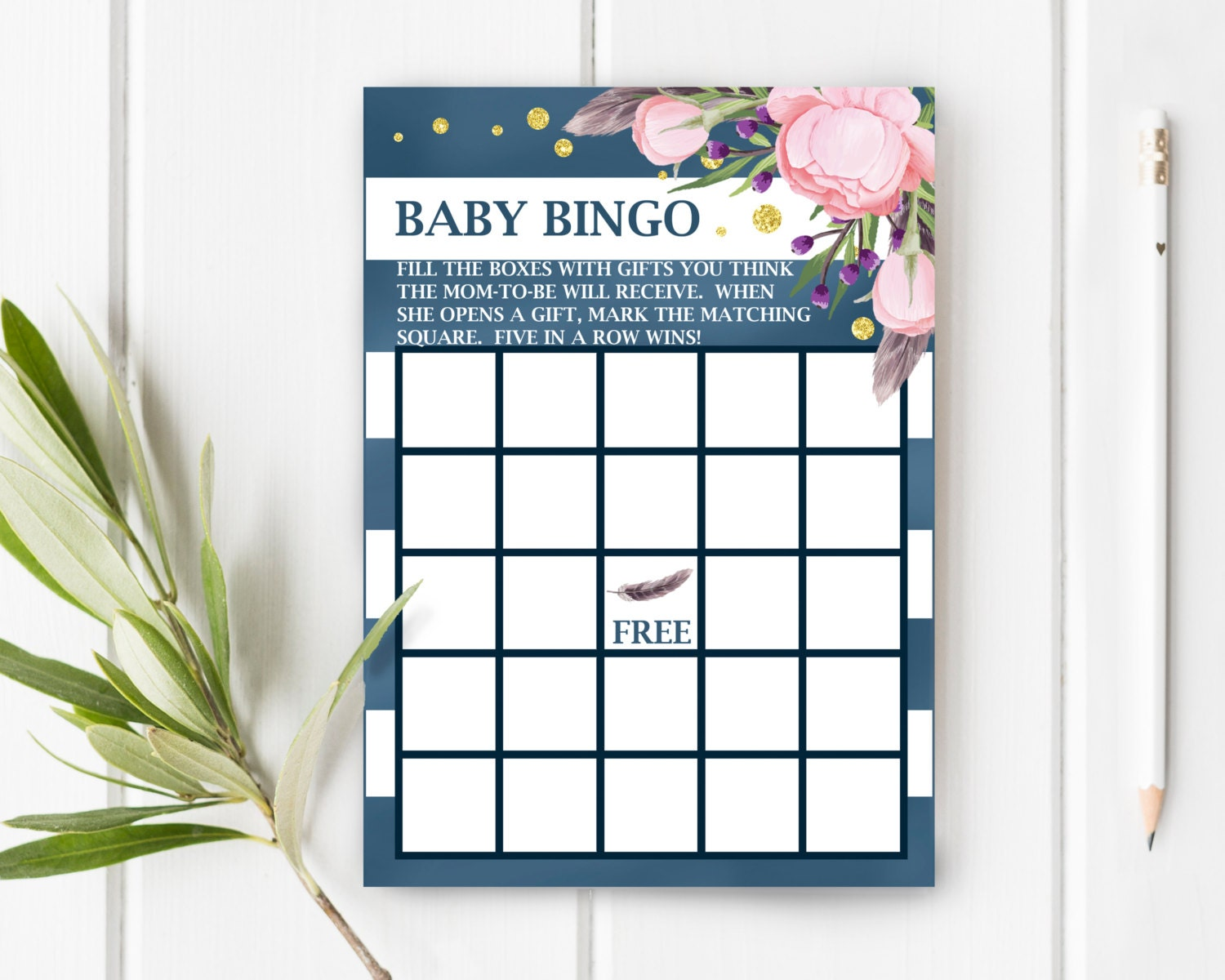 baby bingo boho baby shower games bohemian baby by jessiekdesign