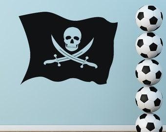 Pirate Flag Jolly Roger Wall Art Sticker (AS10019)