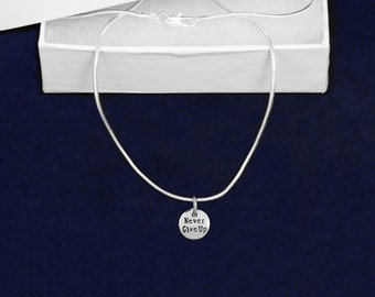 Wholesale Never Give Up Necklaces (18 Necklaces) (N-107NGU)