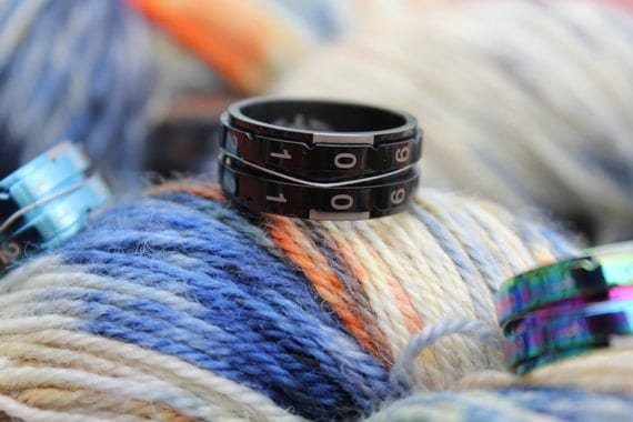 Knitting Counter Ring : Black size knitting counter ring new tool