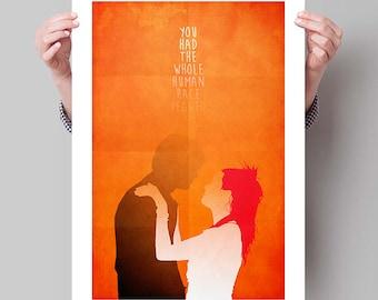 "ETERNAL SUNSHINE of the Spotless Mind Inspired Minimalist Movie Poster Print - 13""x19"" (33x48 cm)"