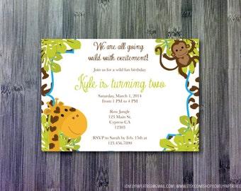 Jungle Birthday Invitation | KB2