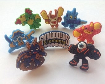 Skylanders Elements Rings Party Favors Cupcake Toppers!