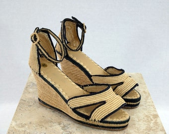 Handwoven Raffia shoes
