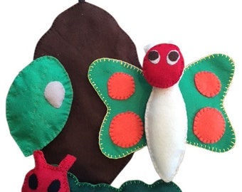 The Life Cycle Of A Butterfly Very Hungry Caterpillar Felt Toys Story Sack