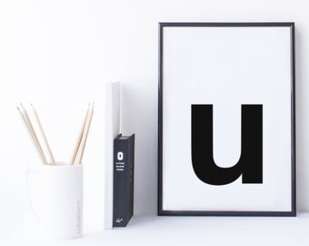 Quote Print and/or Frame - Letter 'u'