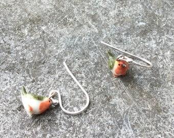 Robin Silver earrings