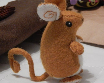 Pumpkin Felt Mouse Toy, art doll