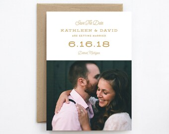 Wedding Save the Date - Skyline - Card & Envelope
