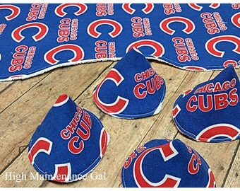 Chicago Cubs baby boy set, Contoured burp cloth, Pee-pee tee-pees, Babyshower gift idea, Expecting dad gift, Set of burp clothes, Pee covers