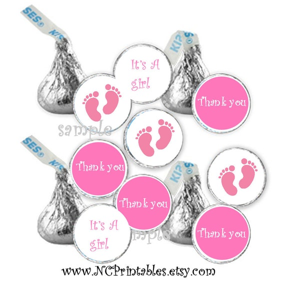 baby shower favors girl pink  candy stickers (108)
