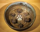 Slow Feed Bowl.  No Gulp Pet Bowl.  Slow Feed Dog Bowl.  Aggressive Eater Pet Feeder.  Handmade Bowl.  Made to Order!