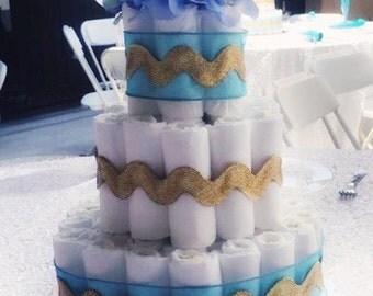 Four Elegant Diaper Cakes