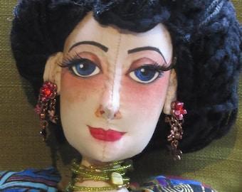 OOAK cloth boudoir doll, Adele
