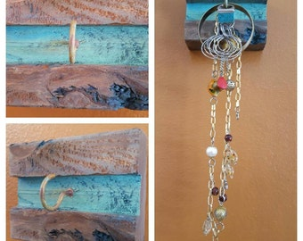 Jewelry or Key holder Rustic Wood Wall Hanging