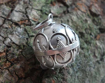 Silver Rajasthani Bell Pendant