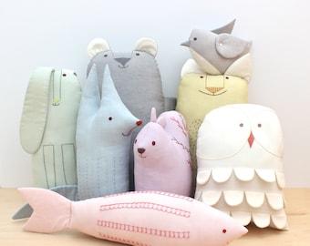 PDF Sewing Pattern - Scandinavian Animal Friends