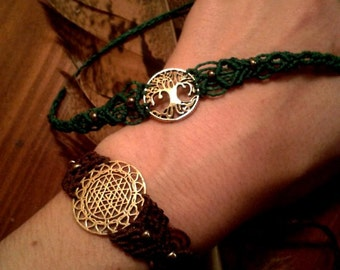 bracelet with different brass symbols