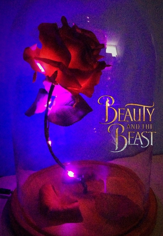 Beauty and the Beast Enchanted Rose lighted replica by Vongooz