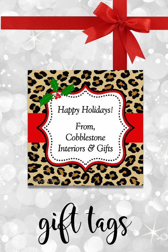 Leopard Christmas Gift Tags - Printable - Personalized Christmas Tags - Leopard Print - Animal Print - Christmas Tags - Tags