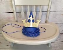 Cardstock Royal prince birthday hat, royal prince decor, first birthday hat, bous first birthday, photography prop