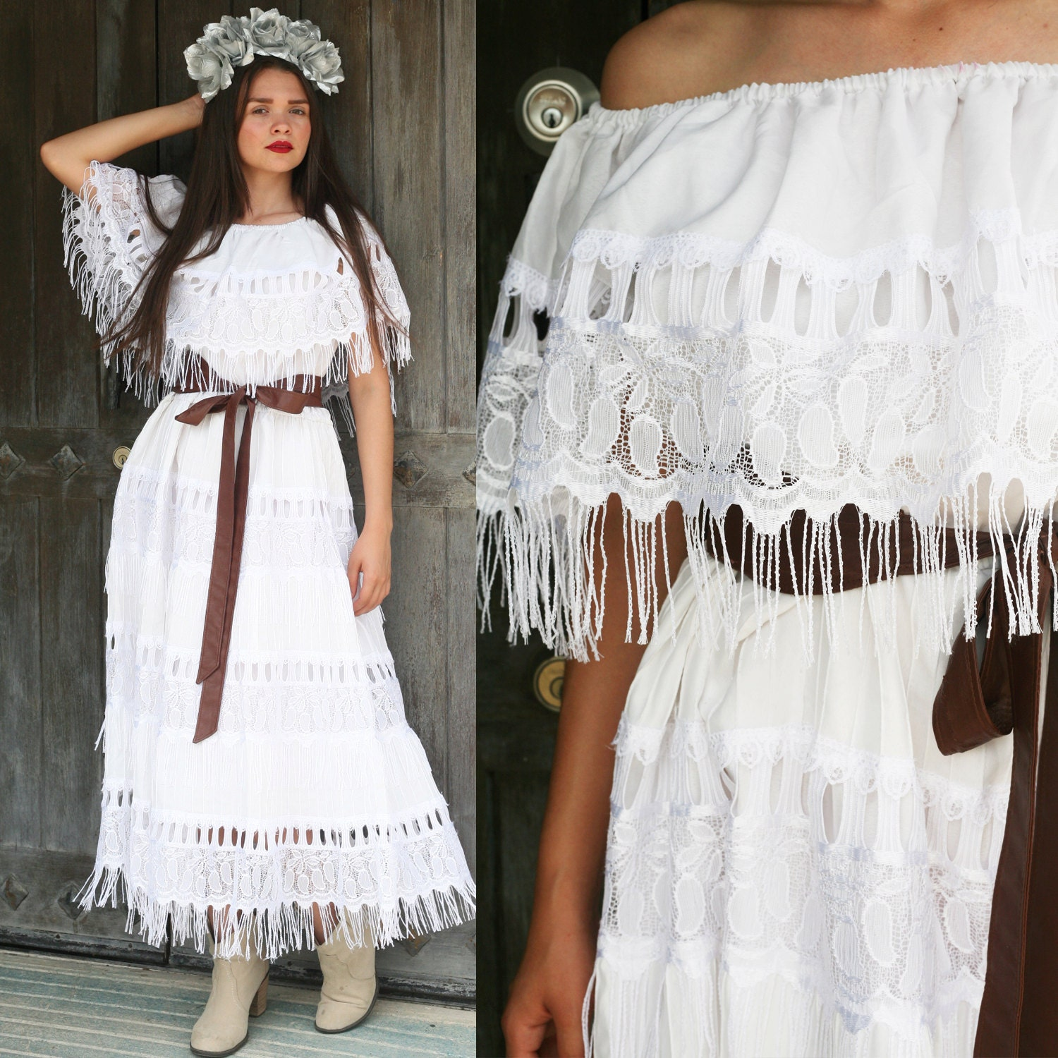 Mexican lace dress | Etsy