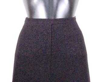 Classic Auth CHANEL UNIFORM black skirt.