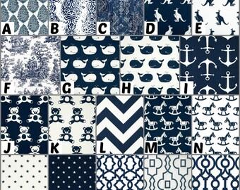Custom Crib Bedding and Nursery Decor / Design Your Own / Crib Bumper / Crib Skirt / Crib Sheet / Premier Prints / Navy- 2