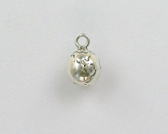 Sterling Silver Globe Charm, Planets & Earth Theme - cel32