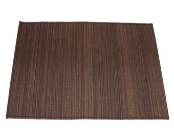 "Chocolate Bamboo Place Mat 13"" x 19"" set of 4 Home & Kitchen, Home Decor, elegant looking, place setting, modern look,  (BAP01-26)"