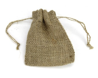 6 Burlap Pouches good for favors and gifts, burlap wedding, rustic country look - 3x4, 4x5, 5x6.5, 5.5x9 (BPxx-12)