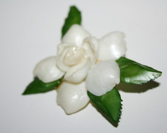 Vintage Flower Brooch / Pin  2 Inches | Ships FREE in US