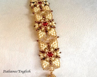 Madame Butterfly Bracelet (Tutorial graphics pictures in Italian and English)
