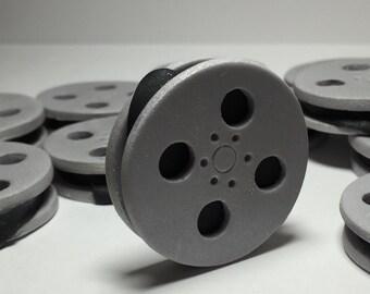 Movie Film Reels Cupcake Toppers - Fondant