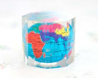 The World Globe Paperweight - Perpex Globe Map