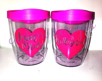Bachelorette Tumblers || Drink Tumblers || Bride || Maid of Honor MOH || Bridesmaid || Gift Idea || Wholesale || Wedding